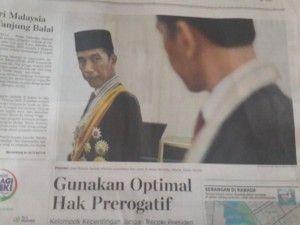 Foto Kompas, Jokowi bersipa untuk foto resmi sebagai Presiden