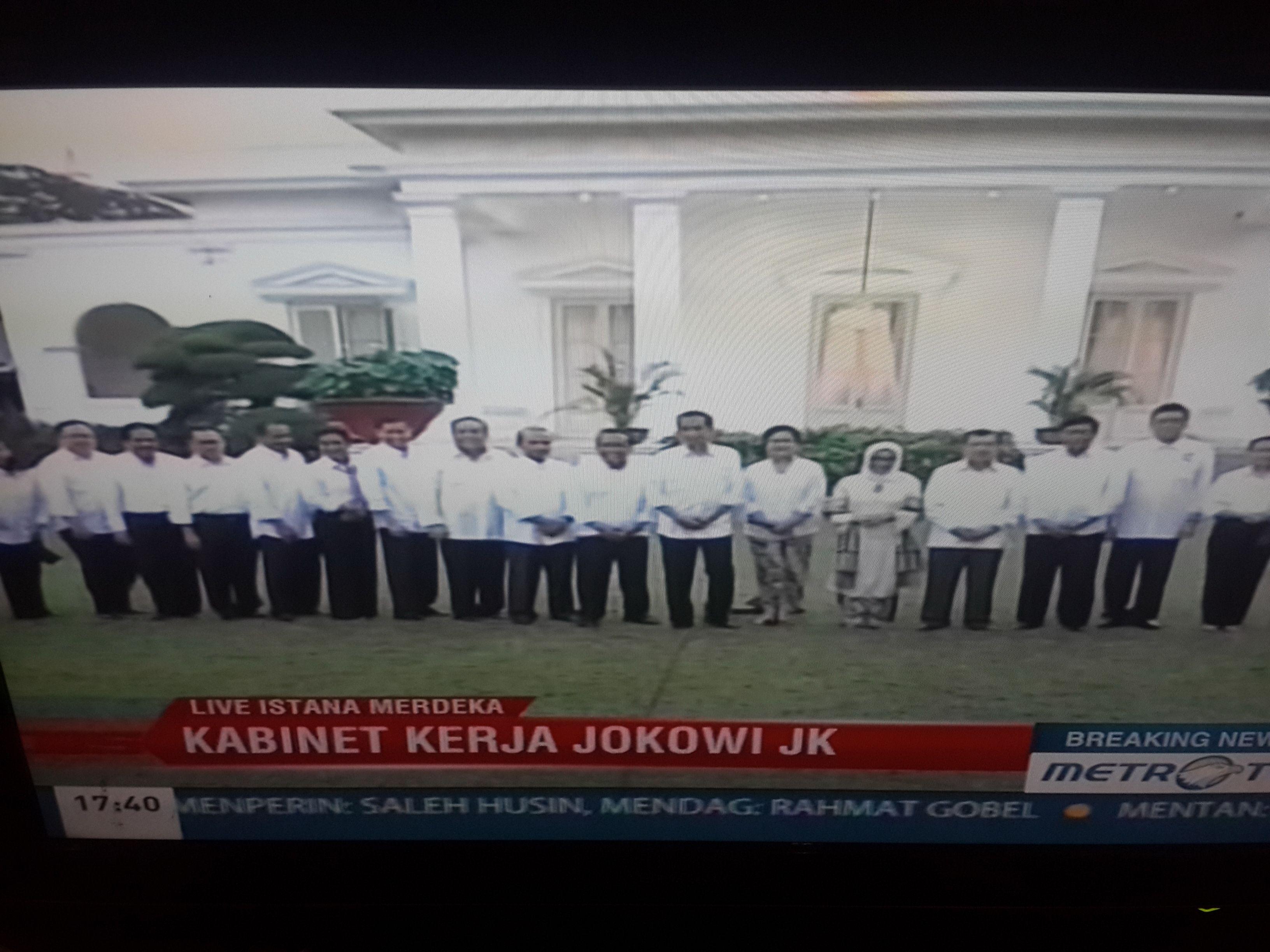 """Pengumuman Kabinet """"Kerja"""" Jokowi"""