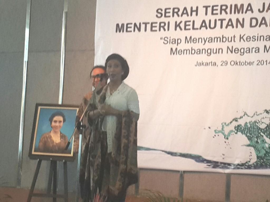Pidato di acara serah terima jabatan Menteri KKP