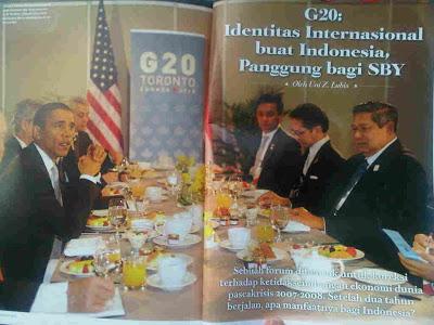Halaman di Rolling Stones yang memuat artikel Uni Lubis soal G20.