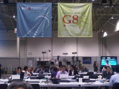 Press room pertemuan G20 di Toronto