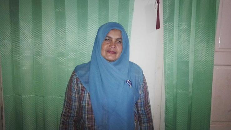 AKP Elfiana, kepala unit Pelayanan Perempuan dan Anak Polda Aceh, saat ditemui di rumahnya, November 2014 lalu. Foto oleh Uni Lubis